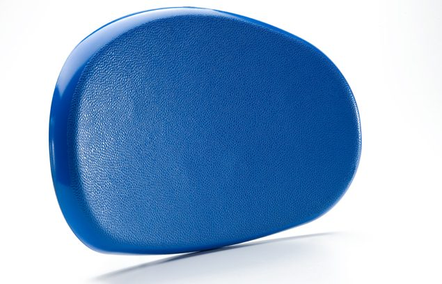 Textured blue plastic car part